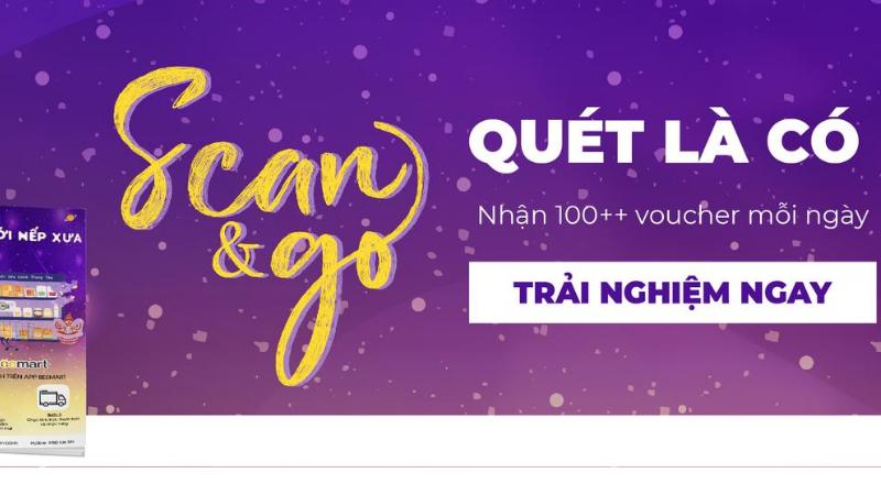 """mua hàng tiện ích tính năng mua sắm """"Scan & Go: Quét là có"""" – tính năng mua sắm mới trên App Beemart tinh nang mua sam"""