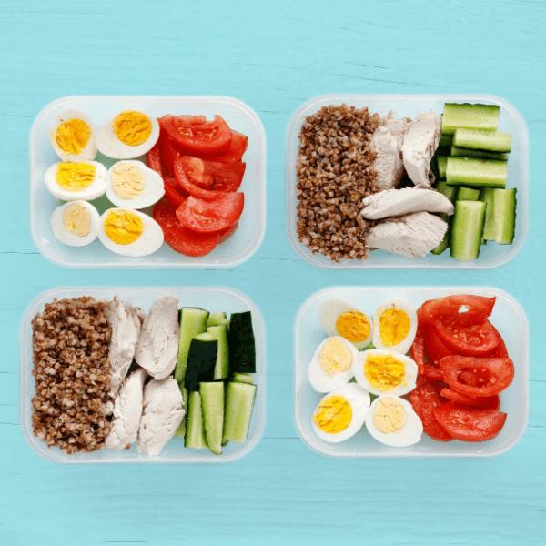 trứng, ức gà - meal prep đơn giản