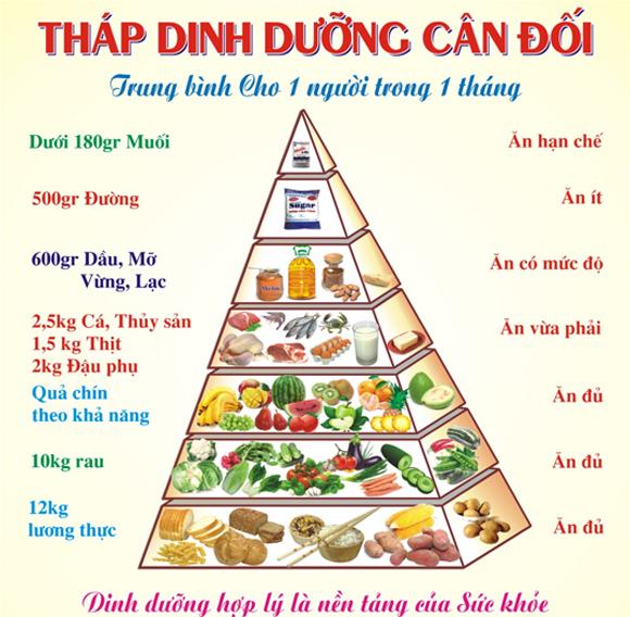 tháp dinh dưỡng bữa ăn đủ chất dinh dưỡng Bữa ăn đủ chất dinh dưỡng là bữa ăn như thế nào? bua an du chat dinh duong