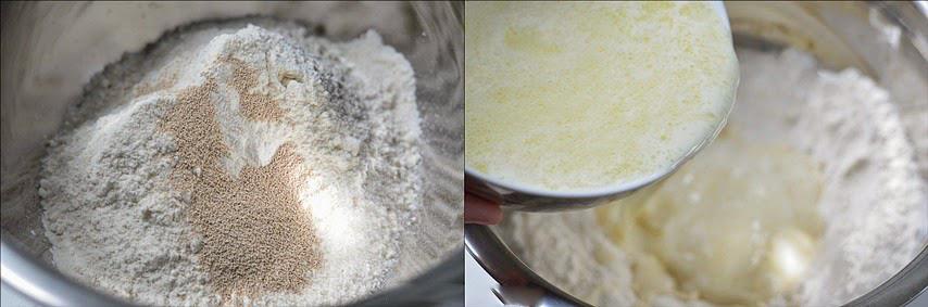 cách làm bánh mì cuộn bột quế