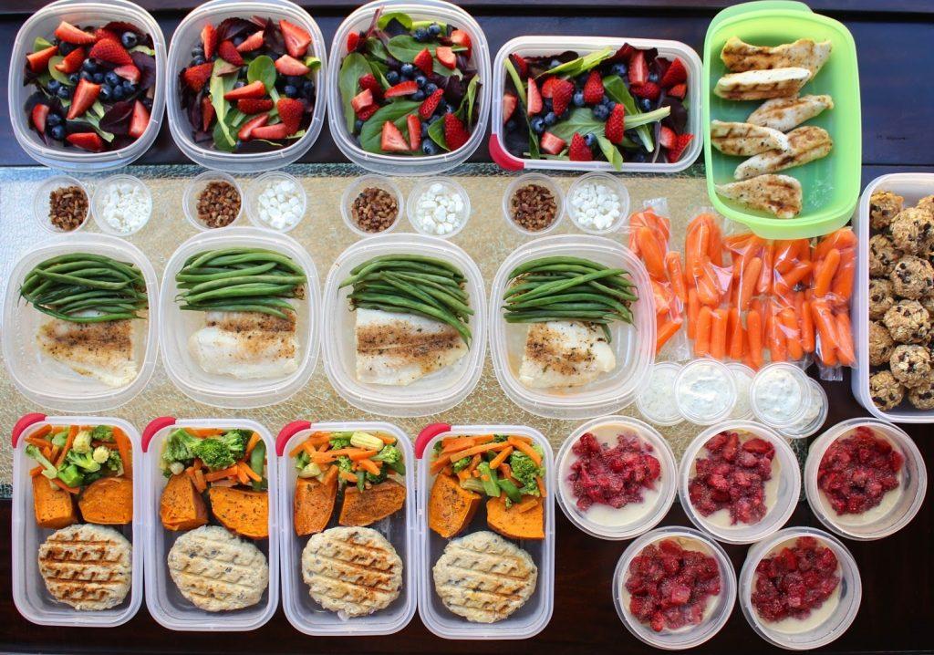 bữa ăn healthy điều độ với meal prep