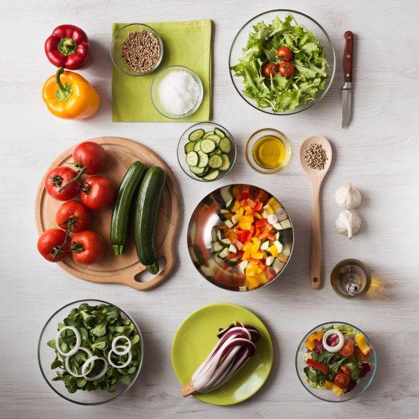 rau củ quả cho bữa ăn healthy