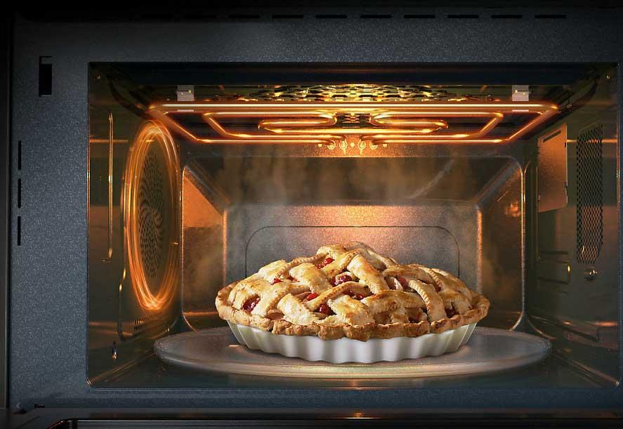 nướng bánh bằng lò vi sóng