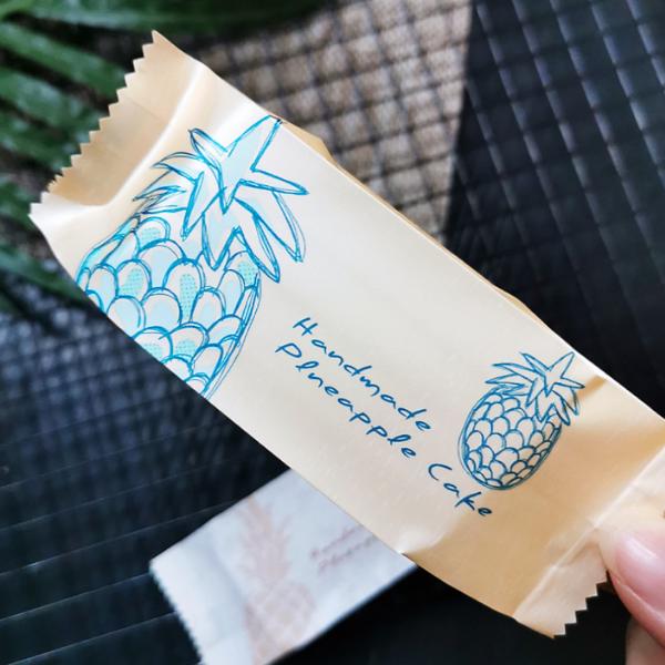 Túi đựng bánh quy dứa màu cam nhạt Handmade Pineapple cake