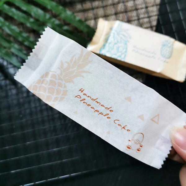 Túi đựng bánh quy dứa màu trắng đục Handmade Pineapple cake