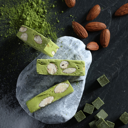 keo-nougat-tra-xanh kẹo nougat trà xanh Kẹo Nougat trà xanh – tinh hoa của đất nước mặt trời mọc Nougat tra xanh 3
